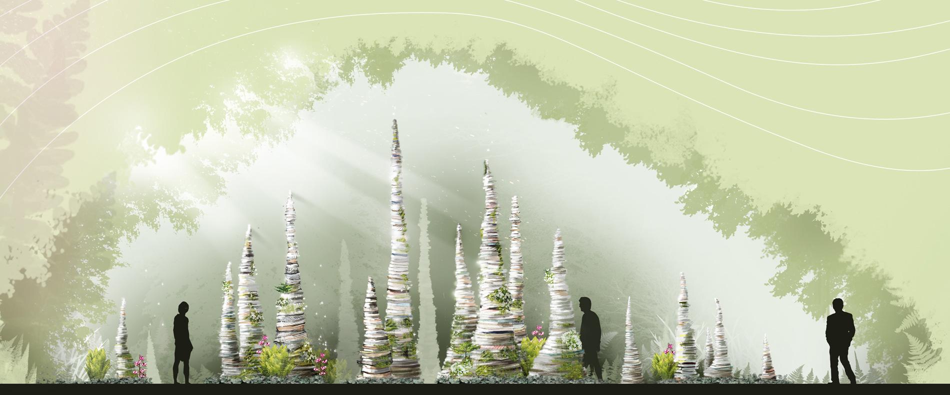 festival international de jardins, métis jardins, les poussières, collectif escargo, julie parenteau, karyna st-pierre, pierre-yves diehl, art public