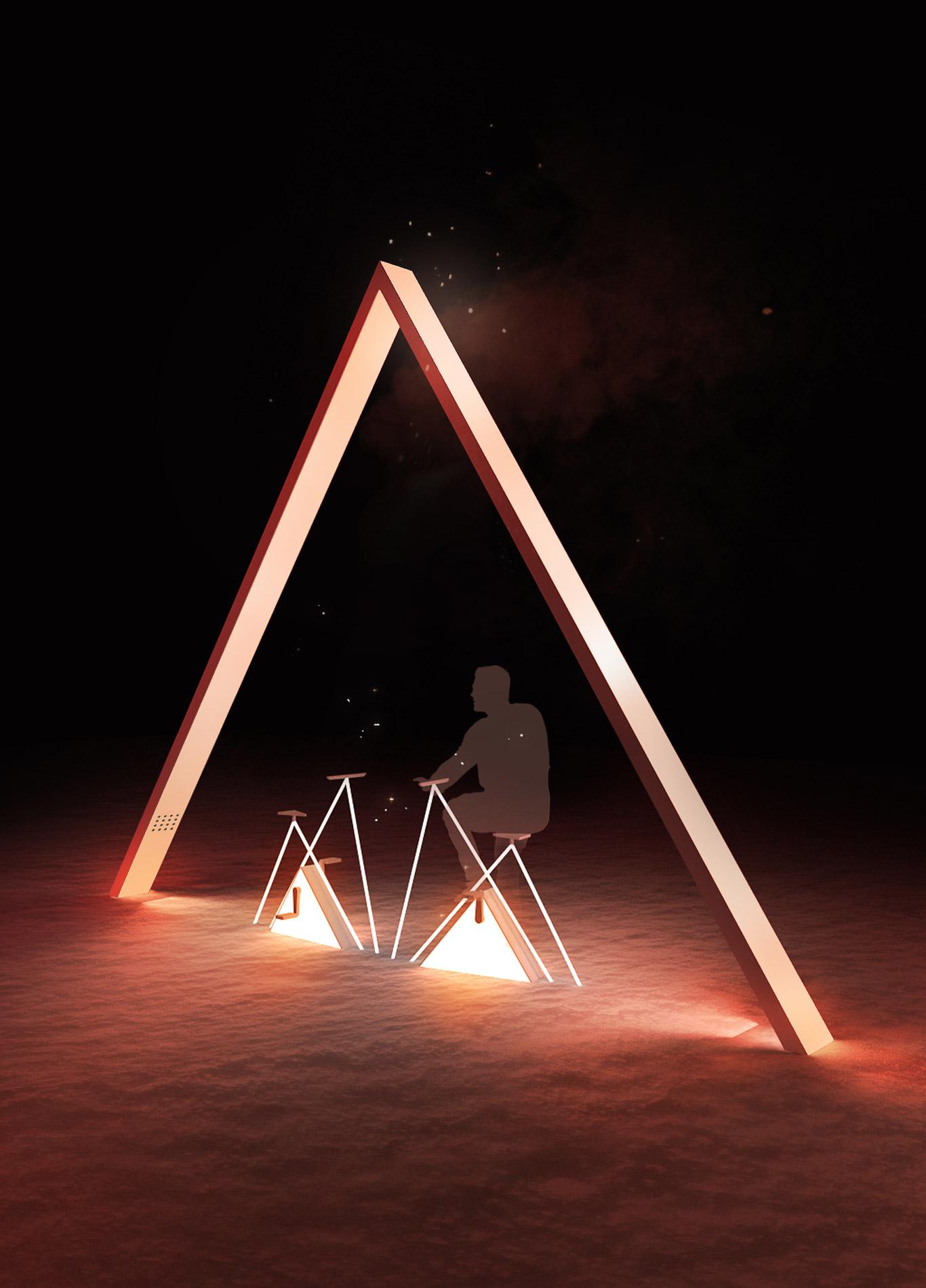concours luminothérapie, collectif escargo, quartier des spéctacles, montréal, le sommeil de l'ours, art public