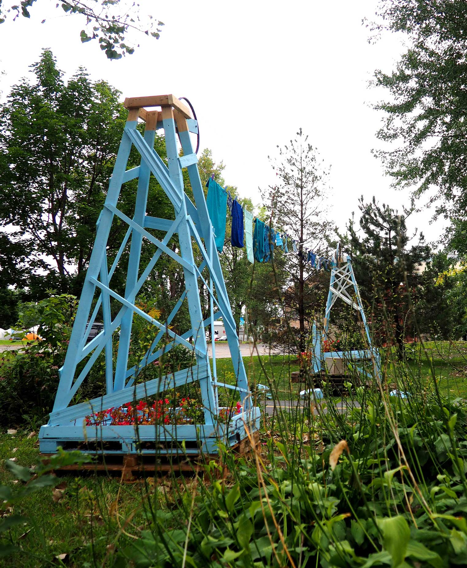 art public, bellastock festival, architecture éphémère, collectif escargo, canal lachine, design montreal